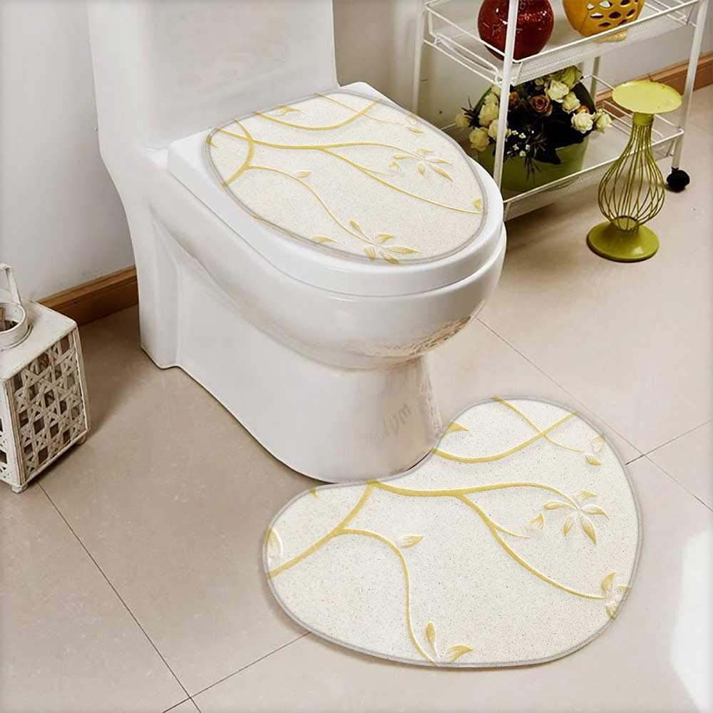 also easy Toilet Heart shaped foot pad low relief cement thai style handcraft of rose flower Washable Non-Slip