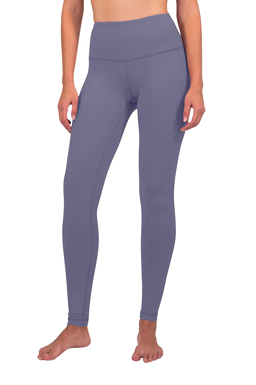 blueeberry Ice 90 Degree by Reflex  High Waist Cotton Power Flex Leggings  Tummy Control