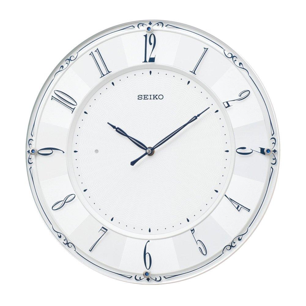セイコークロック 掛け時計 白パール 光沢 直径35.1×3.0cm B07F72WZVW白パール 光沢