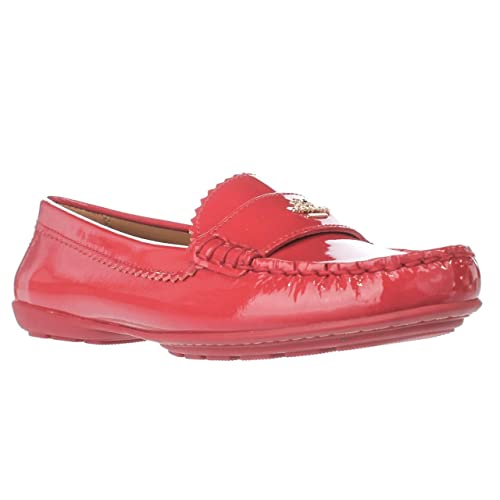 Coach Odette - Mocasines de Charol para Mujer Rojo Rojo (True Red), Color Rojo, Talla 36 2/3: Amazon.es: Zapatos y complementos