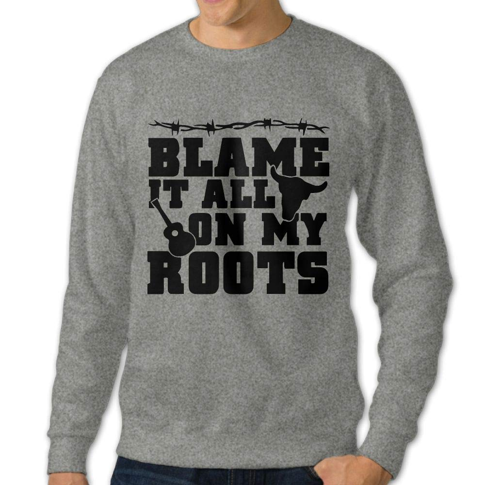 Blame It All On My Roots Adult Mens Sports Long Sleeve Hoodie T-Shirts