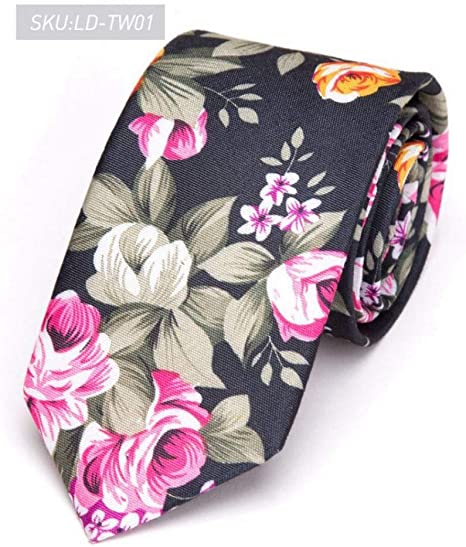 KYDCB Corbatas para Hombre Imprimir Flores Corbata Hombre Moda 6 ...