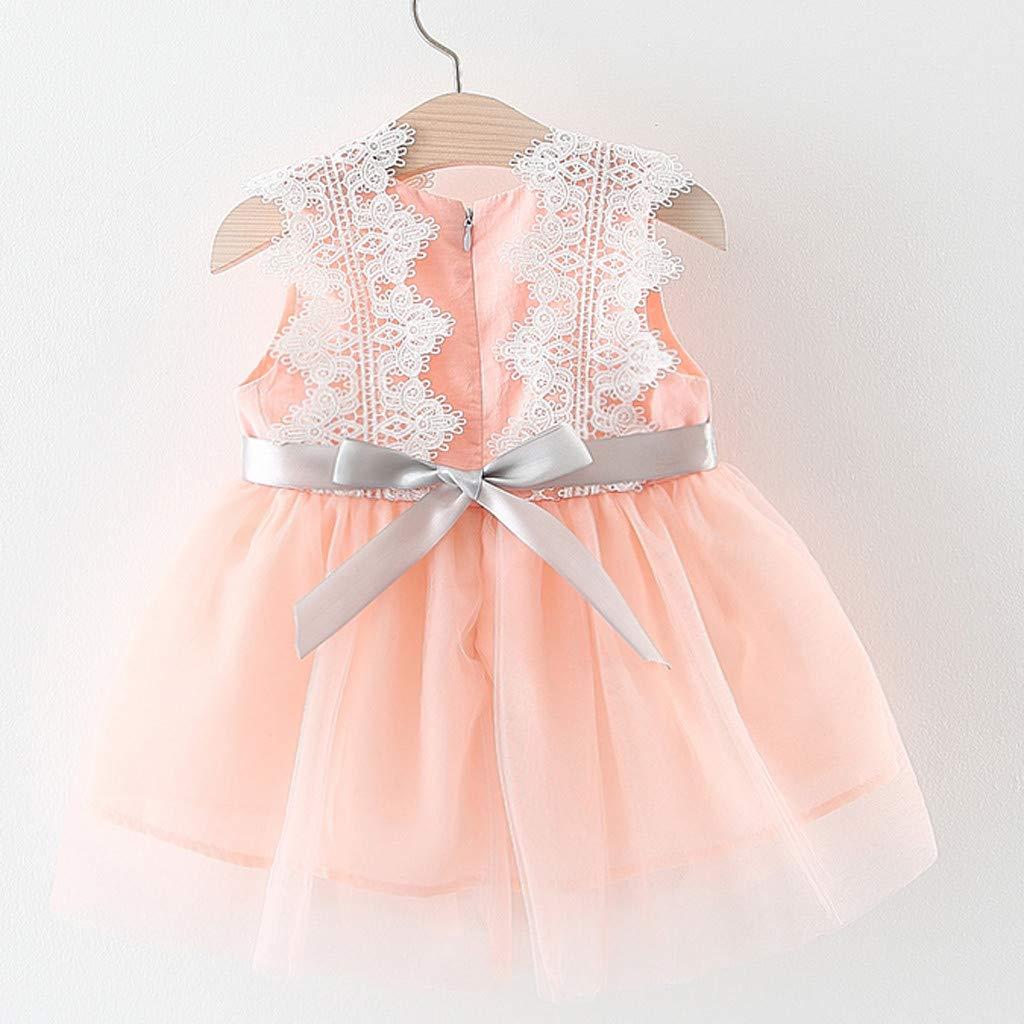 Sommerkleider M/ädchen UFODB Neugeborenes Kids Baby Dot Tulle Patchwork Tutu Sommer Fest Kleid Sommerkleid Festkleid Beach F/ür 0-2Jahres