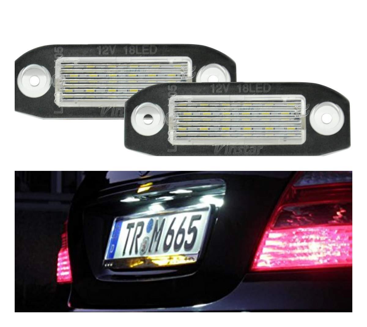 bianco 18 SMD Illuminazione per targa a LED 032501VL