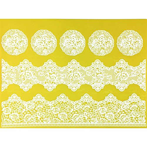 Rose Borders & Medallions Silicone Lace Mat by Chef Alan Tetreault ALAN TETREAULT SELECT PRODUCTS