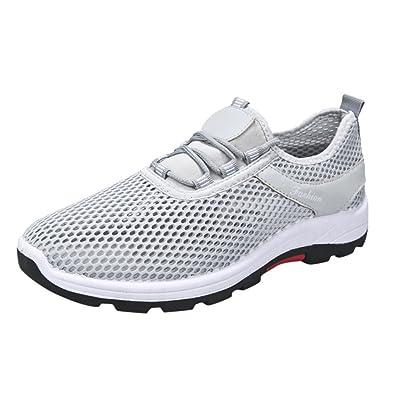 the latest 5de18 8ab0d OHQ Couple ModèLes Hommes Et Femmes Chaussures Respirantes De Sport Gris  Noir Unisexe Sneakers Occasionnels Courir