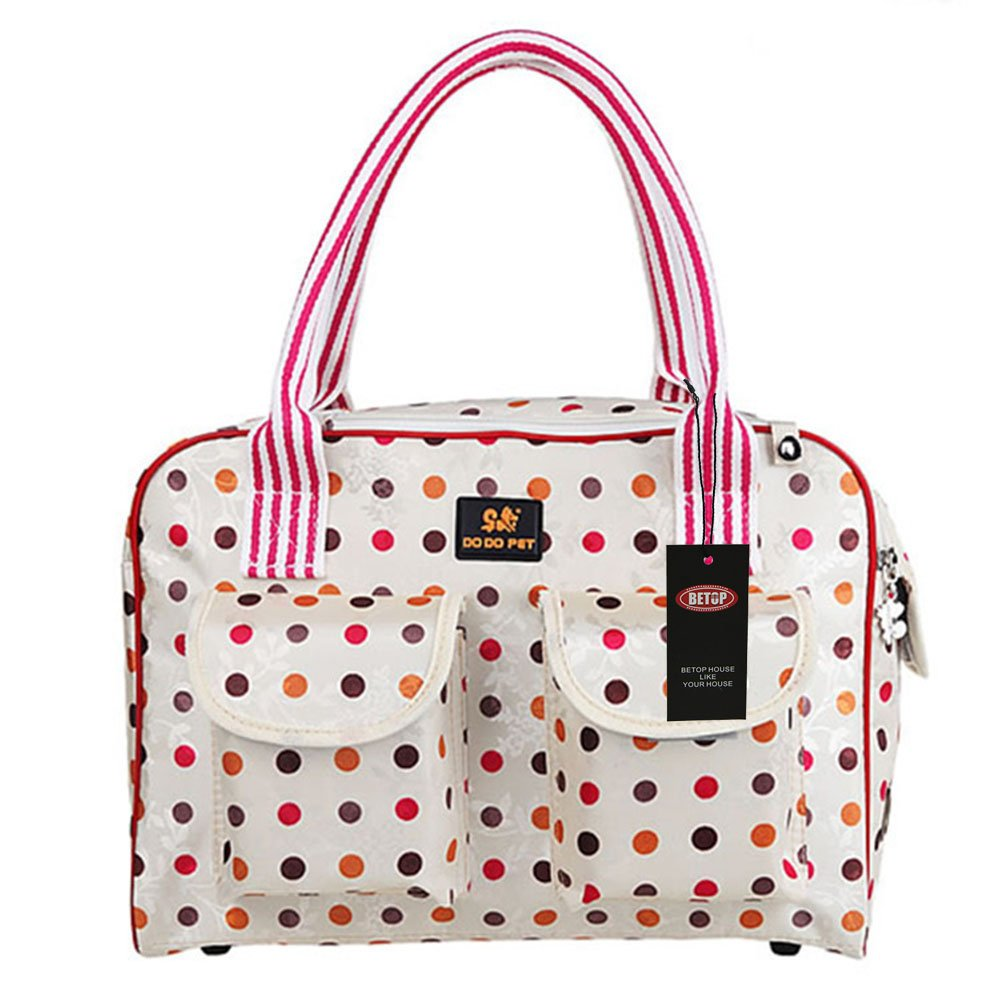 BETOP HOUSE Colorful Polka Dot Pet Dog Carrier Bag Portable Purse Small