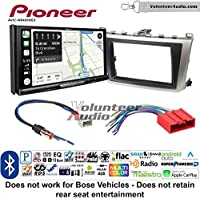 Volunteer Audio Pioneer AVIC-W8400NEX Double Din Radio Install Kit with Navigation, Apple CarPlay and Android Auto Fits 2009-2013 Mazda 6