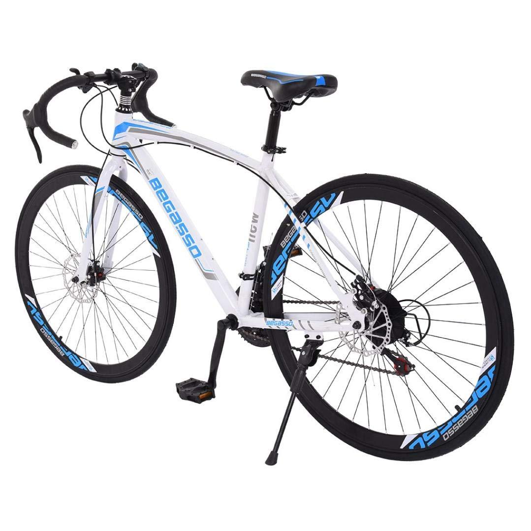 Aluminum Full Suspension Road Bike 21 Speed Disc Brakes 26 inch Road Bike Bicycles 700c Tire Mens//Womens Fashionable Bikes Lightweight Durable Aluminum Road Bike