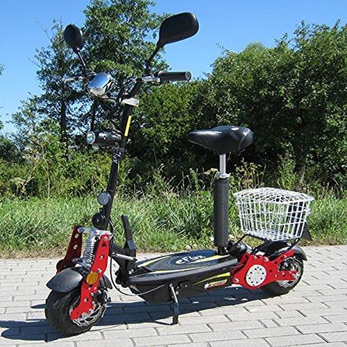 E-Scooter Roller Original E-Flux 40 mit Straßenzulassung und 800 Watt 36 V Motor 40 km/h Geschwindigkeit eingetragen Elektroroller E-Roller E-Scooter in vielen Farbe (schwarz)