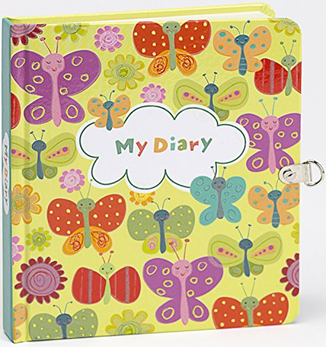 Peaceable Kingdom Butterflies Glow in the Dark Lock and Key Diary