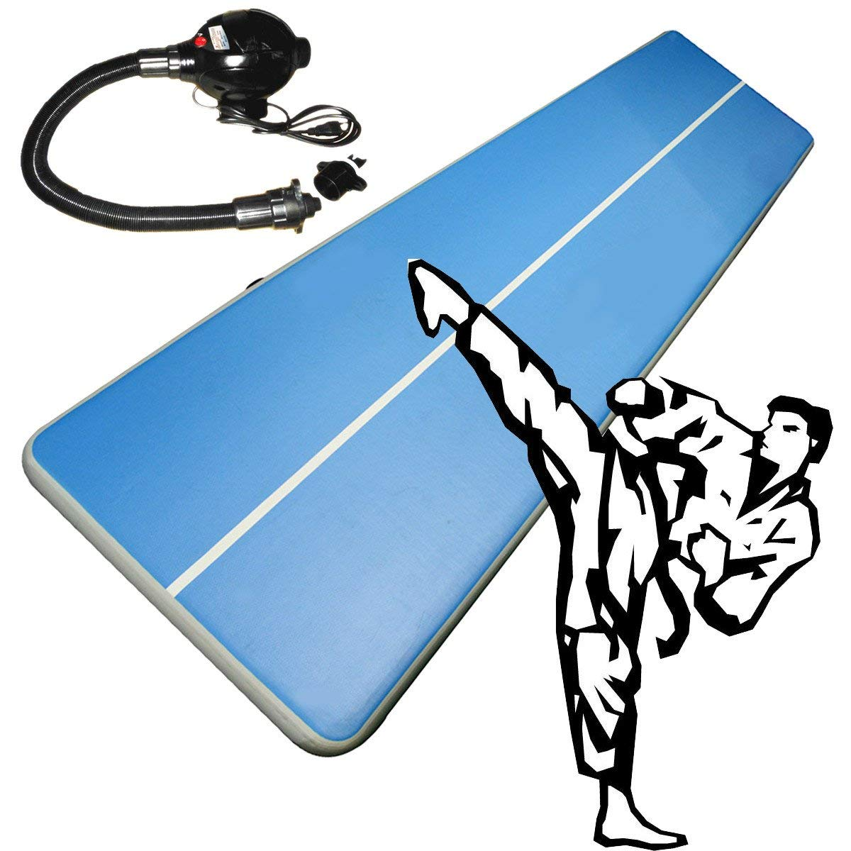 GEOPONICS 157x79x8inchtrack Gymnastics MatGym Track Mat Gym Mat Tumbling Cheerleading Pad