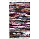 Safavieh Rag Rug Collection RAR128G Hand Woven Multi Cotton Area Rug (2'6' x 4')