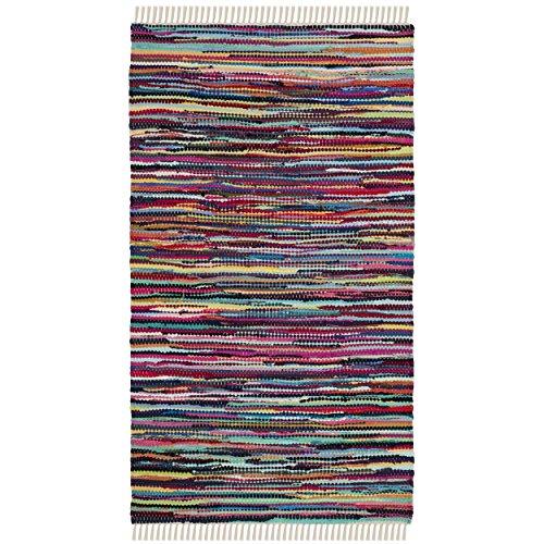 Safavieh Rag Rug Collection RAR128G Hand Woven Multi Cotton Area Rug (2'6 x (4' Rag)