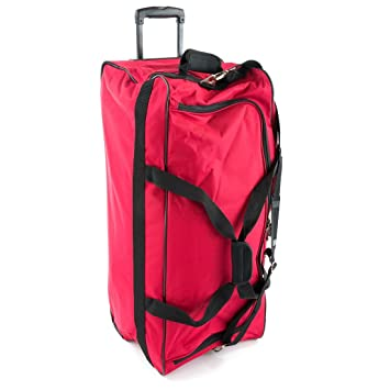 46141fc7baf Jeep XXL Extra Large Wheeled Holdall - 5 Years Warranty! (Red 31 Inch)