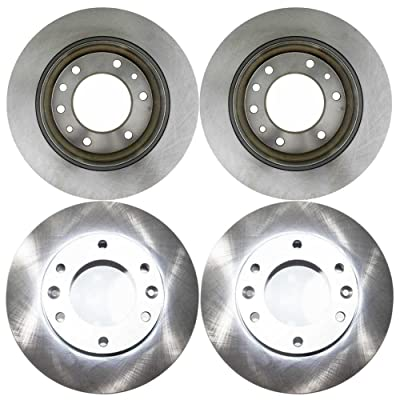 Auto Shack R41433R41432 4 Front and Rear Brake Disc Rotors: Automotive