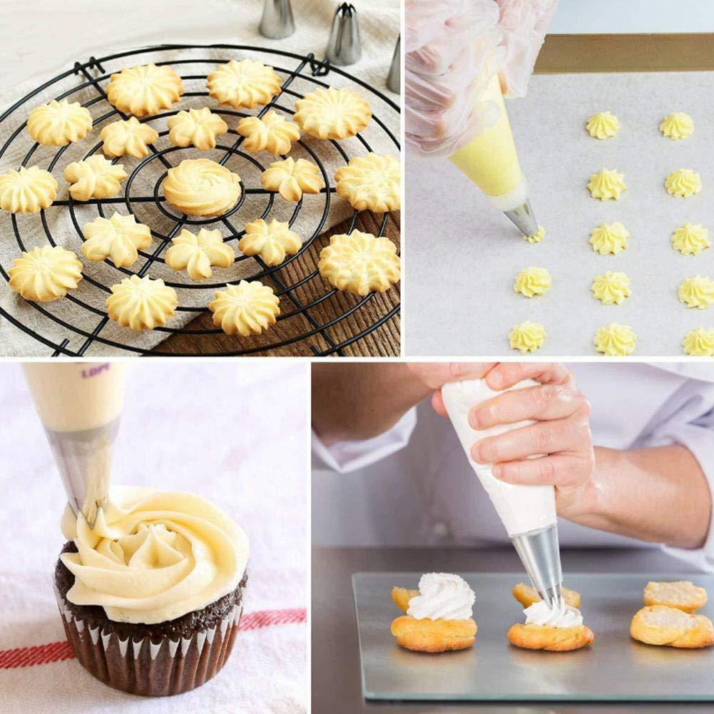 SinceY Set di beccucci per Pasticceria e Pasticceria Kit da 52 Pezzi per Creare Dolci incredibili con Questo Set Completo di Torte.