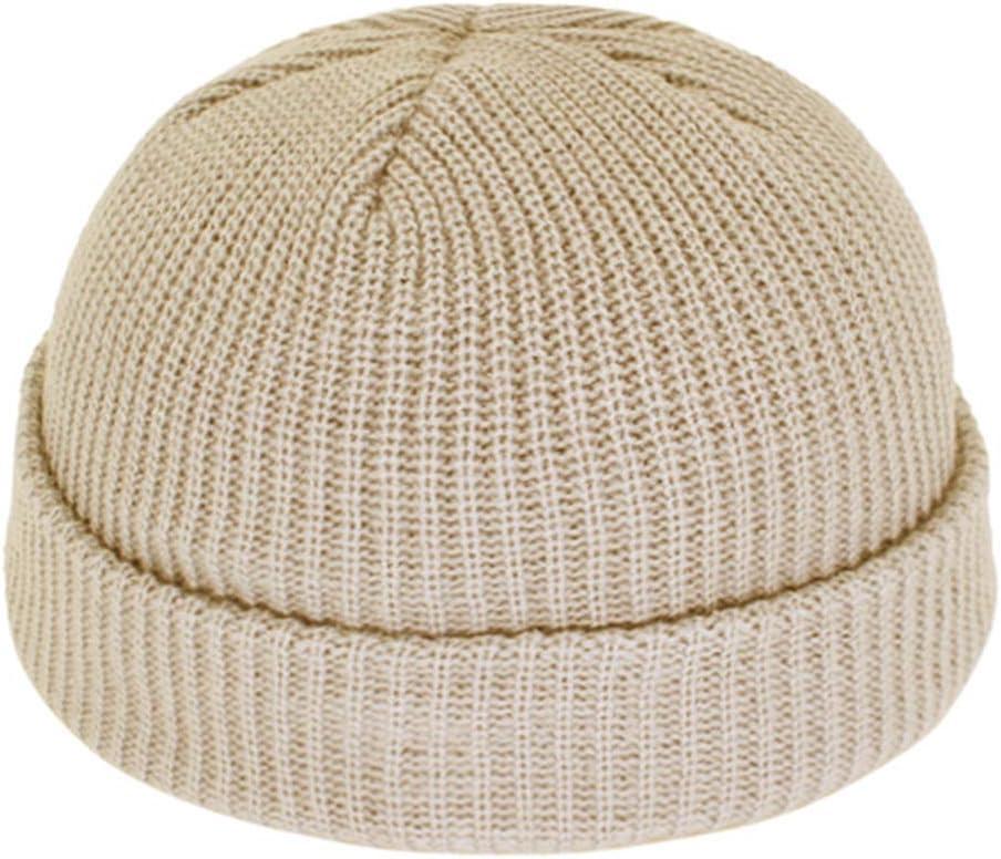 JKFXMN Short Skullies Beanies Hombres Sombrero De Invierno Mujeres Sombreros para Skullcap Bonnet Knitted Cap Khaki