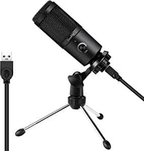 USB Microphone for Computer,ZHMM Condenser Recording PC Microphone for Mac & Windows,Professional Studio Desktop Microphone for Gaming, Podcast,Chatting, YouTube Videos,Voice Overs and Streaming