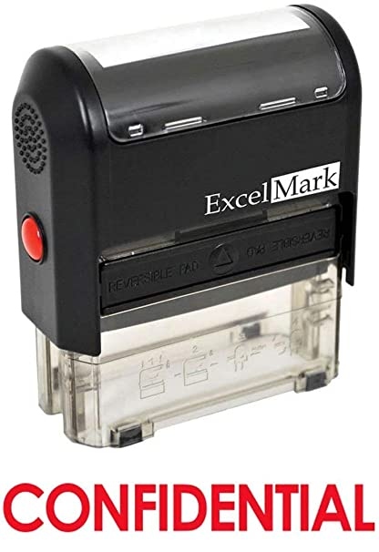 CONFIDENTIAL Self Inking Rubber Stamp