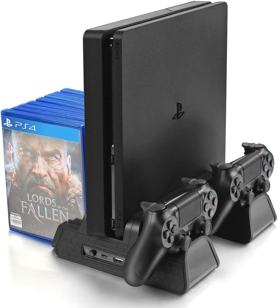 Amazon com: Vertical Stand for PS4/PS4 Slim/PS4 Pro - Cooling Fan