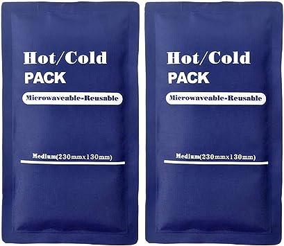 LIOOBO Compresas Frías y Calientes para Fiebre y Dolor Compresas de Hielo Multiusos 2PCS (Azul): Amazon.es: Deportes y aire libre