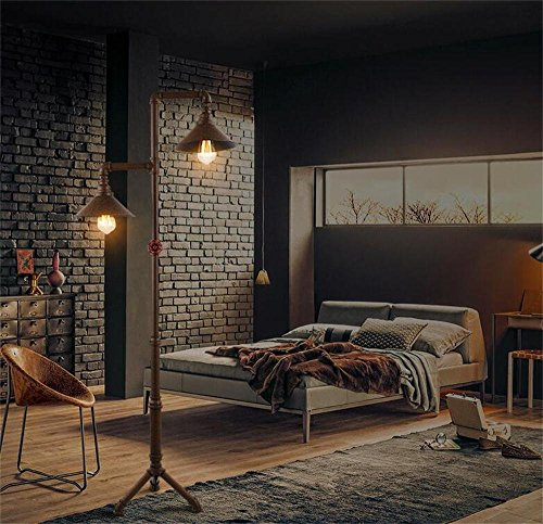 HOMEE European-style floor lamp series american country vintage wrought iron pipes led creative bedroom floor lamp continental restaurant bar table decoration floor lamp - retro floor lamp by HOMEE