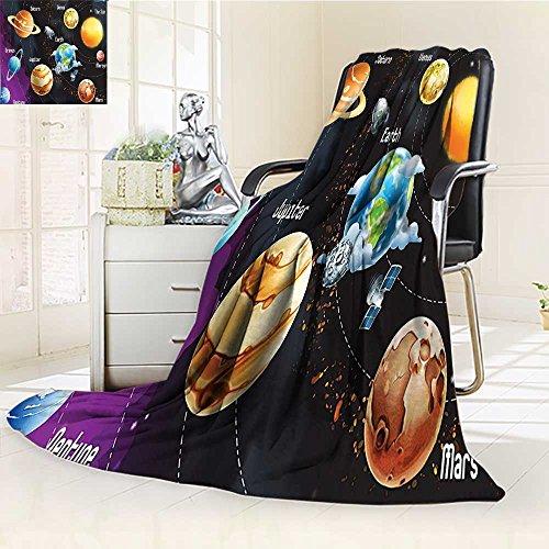 AmaPark Digital Printing Blanket Solar System of Planets Milk Way Neptune Venus Mercury Sphere Summer Quilt Comforter -
