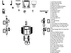Rdash Dash Kit Decal Trim for Ford F-150 2013-2015 - Carbon Fiber 4D (Black)