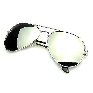 Emblem Eyewear - AVIATOR Lunettes De Soleil Vintage Mirror Lens Nouveau Hommes Femmes Mode Cadre Rétro Pilote (Lentilles En Miroir 5kEMnaN2G7