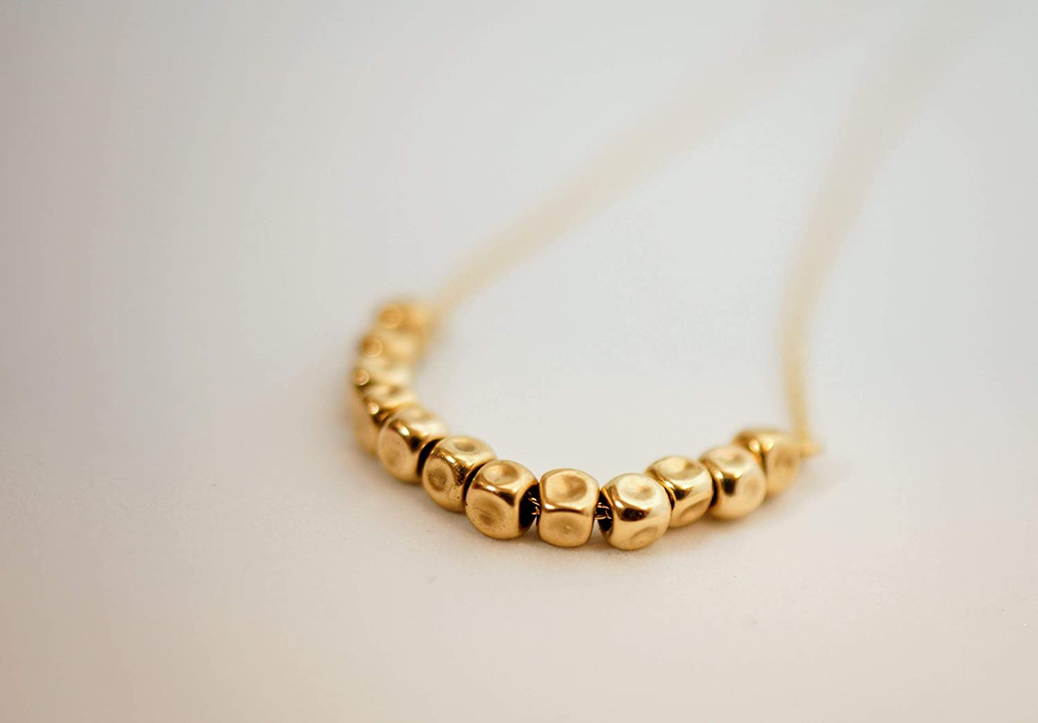 Dainty Nuggets Necklace for Women Satellite Necklace in Sterling Silver or Gold Filled