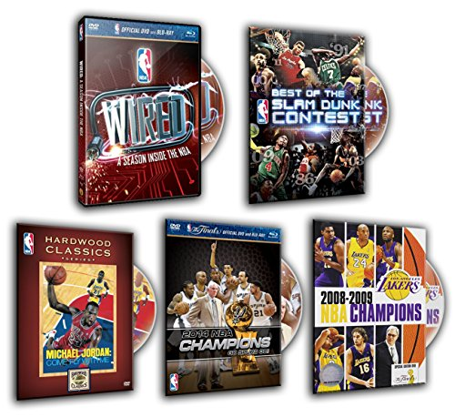 Best of the NBA Slam Dunk Contest, 2008-2009 NBA Champions: Los Angeles Lakers, 2014 NBA Championship: Highlights, NBA Hardwood Classics: Michael Jordan: Come Fly With Me, WIRED (5 DVDs Pack)