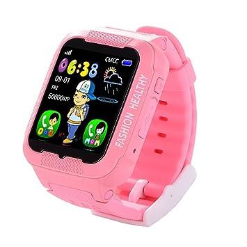 PINCHU Reloj Inteligente para Niños K3 Reloj Impermeable para Niños Reloj GPS para Seguridad En Tiempo Real AGPS lbs Reloj Anti-Perdida para Bebés ...