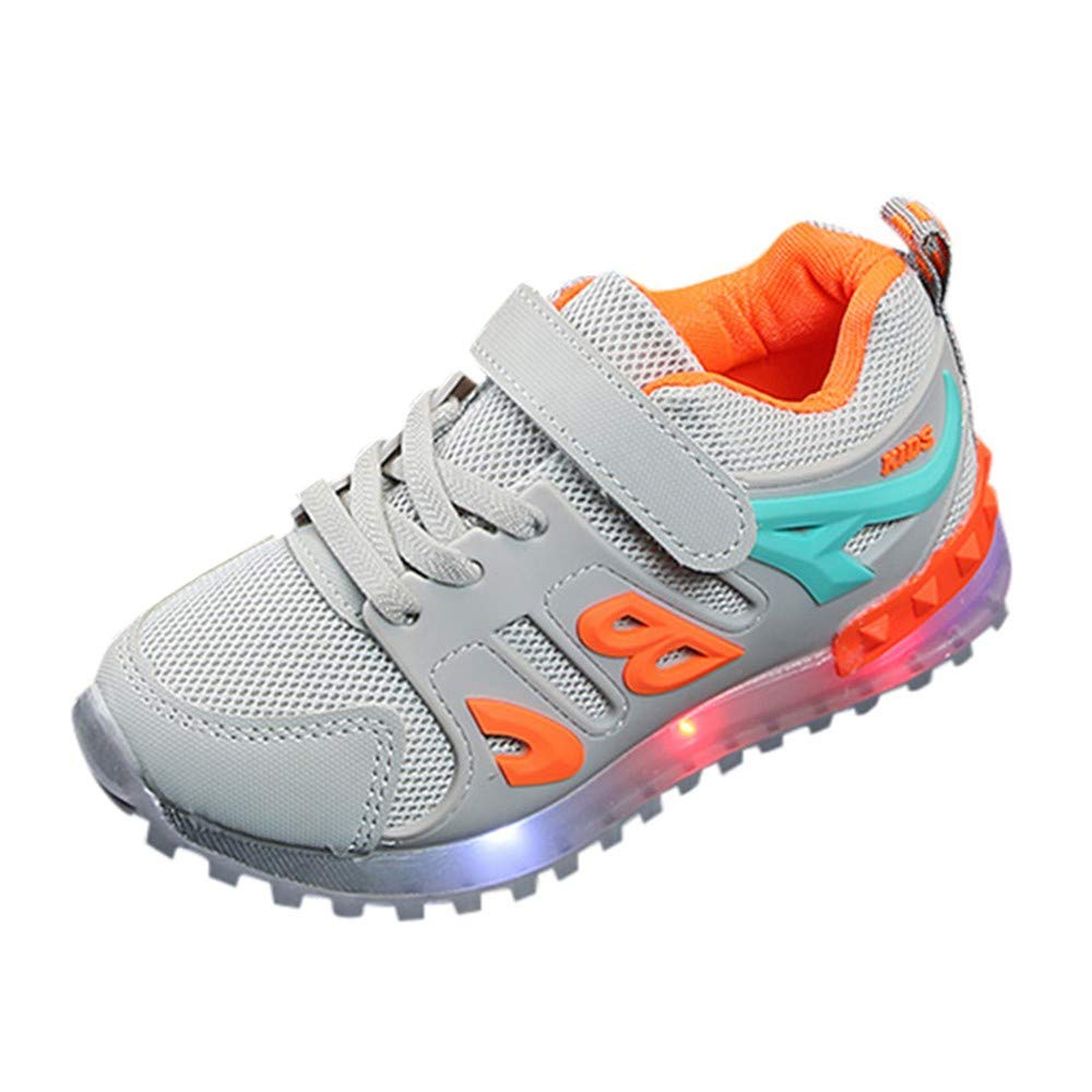 Boys Girls Led Light Luminous Shoe Mesh Outdoor Casaul Shoes(Toddler/Little Kid/Big Kid) by Lurryly (Image #5)