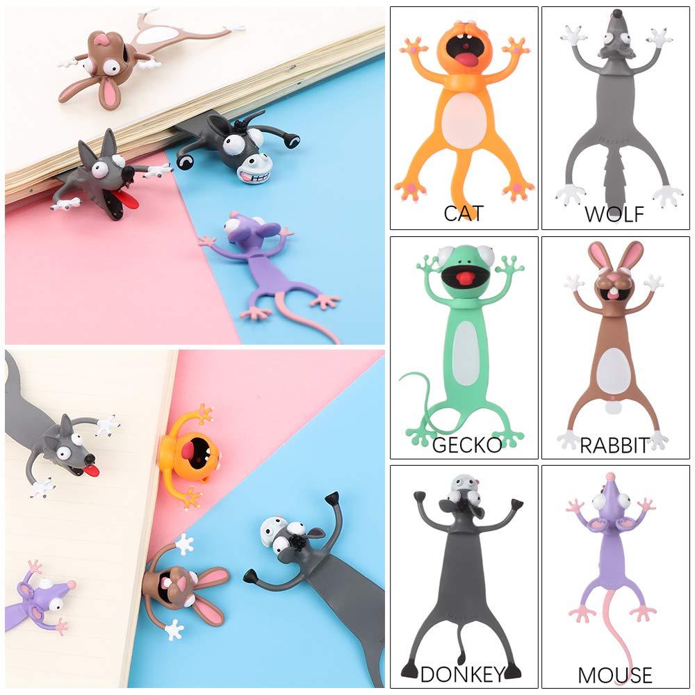 in stile cartone animato Neaverler Segnalibri in PVC per la scuola rabbit