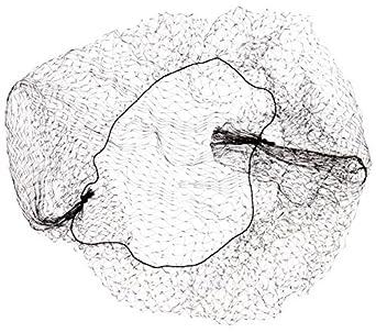 "Keystone 109I-REG-BLK Black Lightweight Nylon Invisible Hairnet with 1/4"" Opening, 22"" Regular Size (Case of 144)"