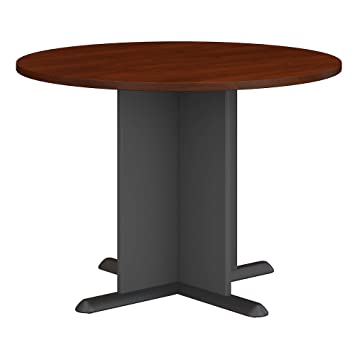 Admirable Bush Business Furniture 42 Inch Round Conference Table In Hansen Cherry Home Interior And Landscaping Eliaenasavecom