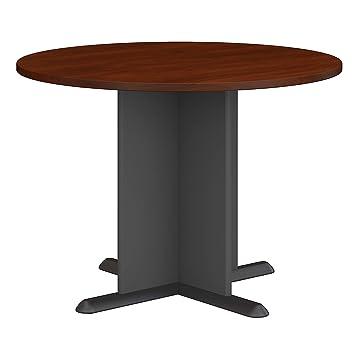 Terrific Bush Business Furniture 42 Inch Round Conference Table In Hansen Cherry Download Free Architecture Designs Viewormadebymaigaardcom