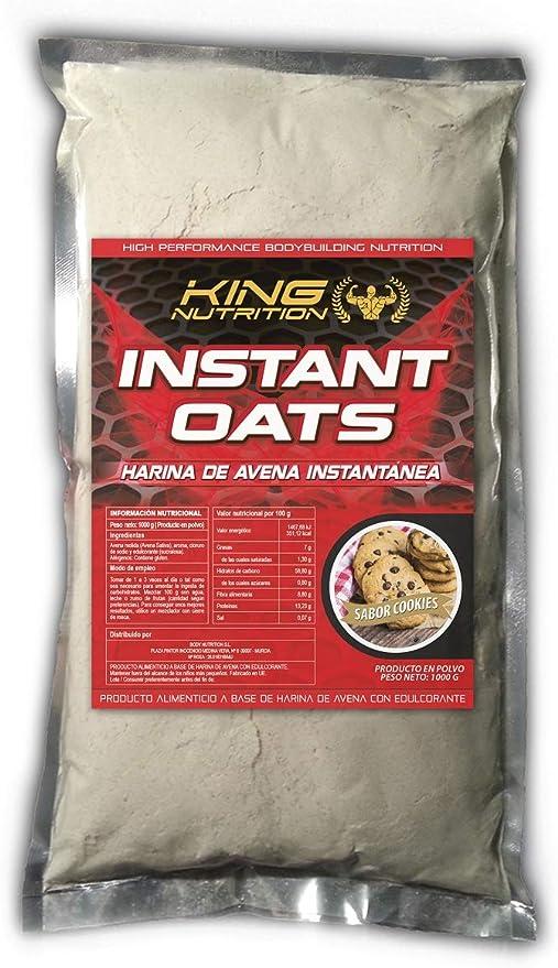King Nutrition Instant Oats Suplemento Harina de avena 1kg Cookies and Cream