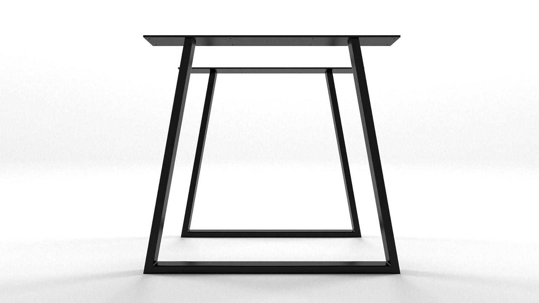 2x Patas para mesa de hierro, a medida, trapecio, hogar, sala ...