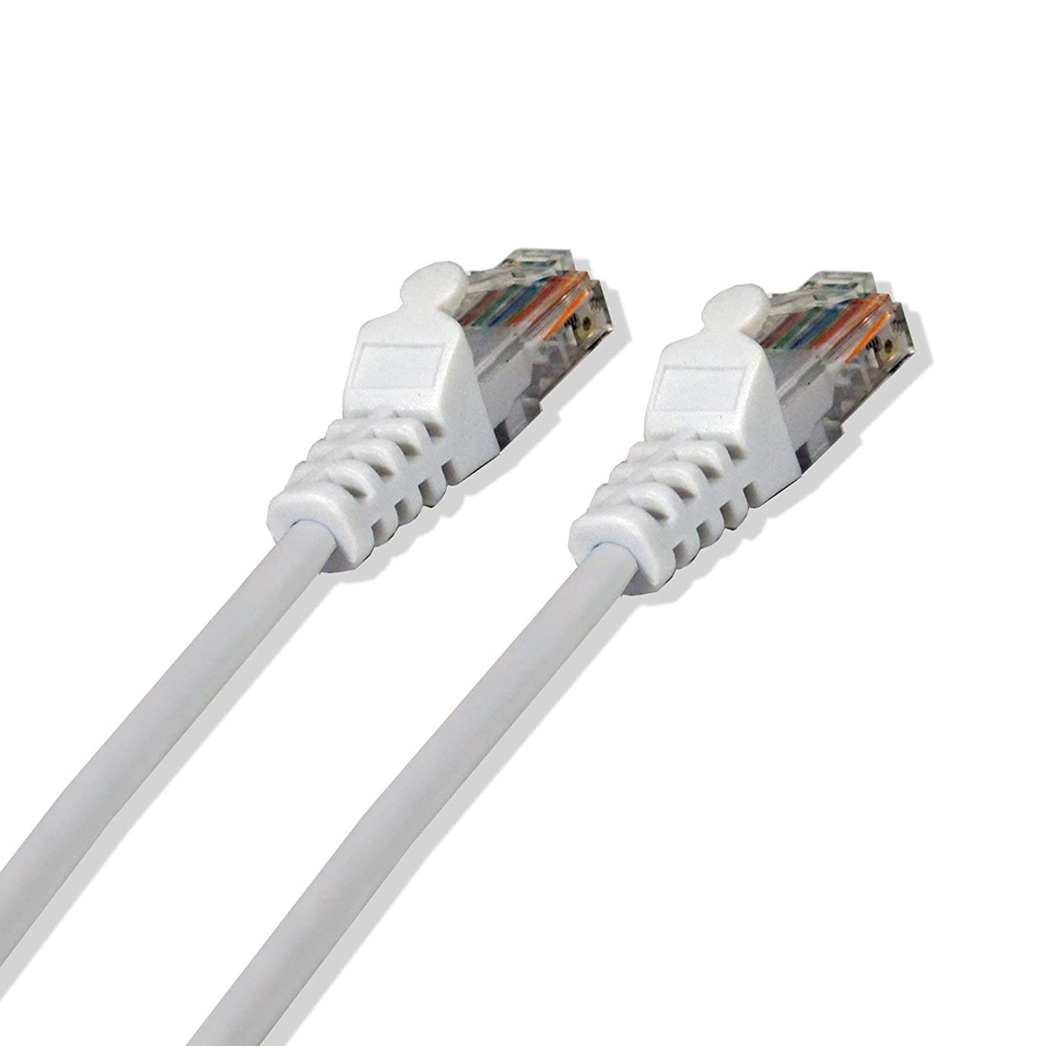 5 Pack LOGICO 75Ft Cat5e Ethernet RJ45 LAN Wire Network Black UTP 75 Feet Patch Cable