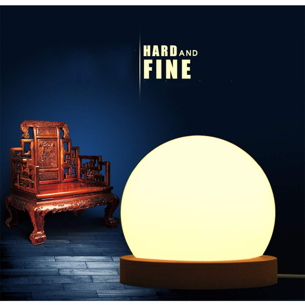 lotus.flower Creative LED Ball lamp Wooden Base USB Adjustable Brightness Color Room Decorate (Yellow) by Lotus.flower (Image #9)