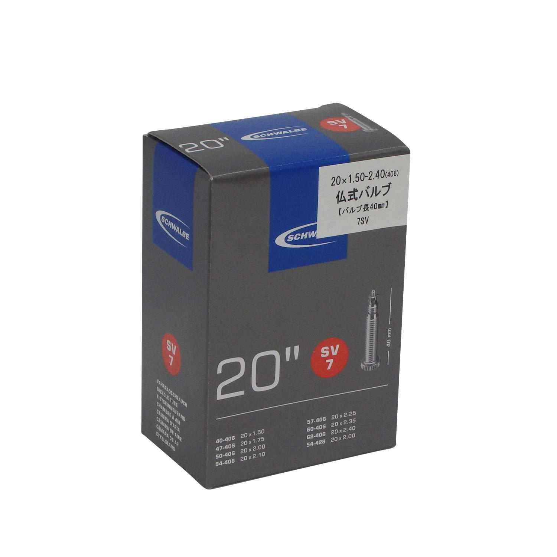 "Schlauch Schwalbe SV 6; 20x1 1//8-1.50/"" 28//40-406 SV 40mm"