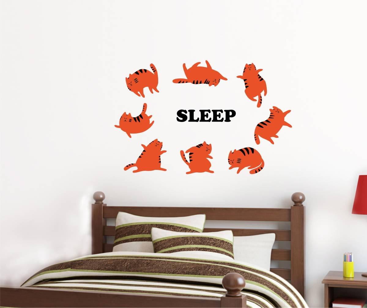Schlaf-Muster-Wandaufkleber-Kunst-Wohnkultur-Aufkleber-Wandbild-Kinderzimmer