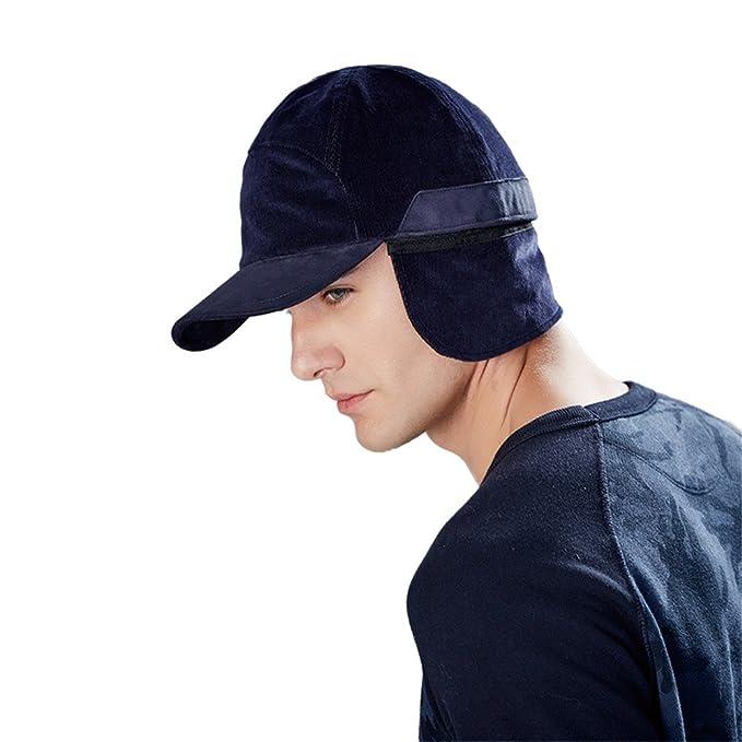 e157f4dab8871e Men's Fall Winter Trooper Ear Flap Cap Warm Cotton Baseball Cap Outdoor  Fleece Ball Hat (
