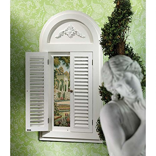 Italian Style Tuscan Chic Arch Wood Mirror (Style Tuscan Mirror)
