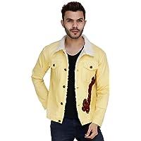 House Of Sensations Men Denim Solid Jacket with Button Closer