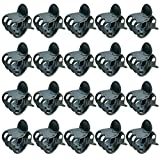 baotongle 100 pcs Plant Clips, Orchid Clips Plant Orchid Support Clips Flower and Vine Clips for Supporting Stems Vines Grow Upright Dark Green