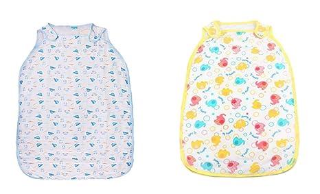 Sacos de Dormir para Bebé, Peso de Verano, Lavable a Máquina,0.5 Tog