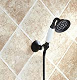 Porcelain Hand Shower Oil Rubbed Bronze with Hose and Holder